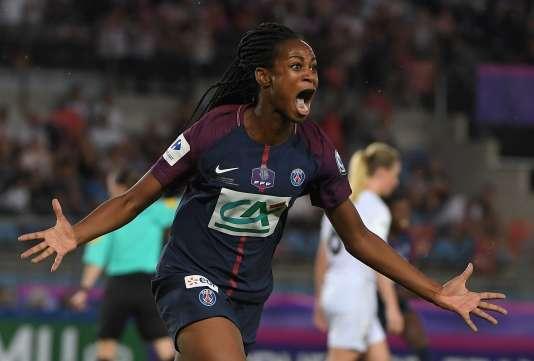 Marie-Antoinette Katoto, du PSG, lors de la finale de la Coupe de France face à Lyon, le 31 mai.