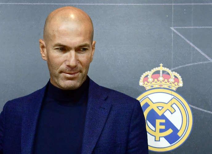 Zinédine Zidane, le 31mai 2018, après l'annonce de sa démission surprise lors d'une conférence de presse.