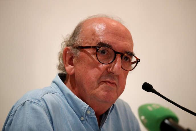Le groupe Mediapro a remporté les droits de la Ligue 1, son président, Jaume Roures, lors d'une conférence de presse, à Paris, le 31 mai.