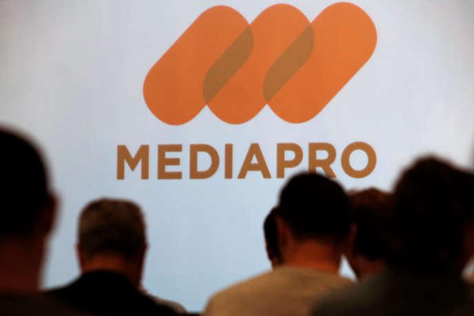 La conférence de presse du groupe espagnol après l'acquisition des droits du football français, le 31 mai 2018.