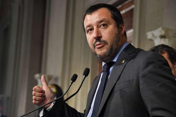 Le ministre de l'intérieuritalien, Matteo Salvini, le 14 mai.