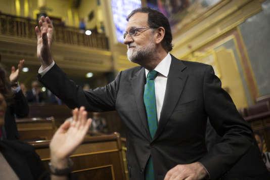 Le premier ministre espagnol Mariano Rajoy à la chambre basse du Parlement, le 31mai.