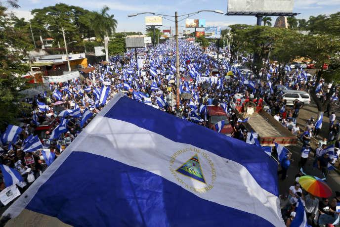 Manifestation à Managua, le 30 mai.