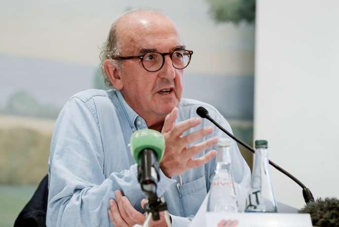 Le fondateur de Mediapro, Jaume Roures, le 31 mai au cours d'une conférence de presse à Paris.