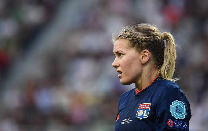 Ada Hederberg, l'attaquante de Lyon, le 24 mai 2018 à Kiev