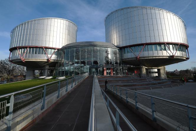 La Cour européenne des droits de l'homme, à Strasbourg le 24 janvier 2018.