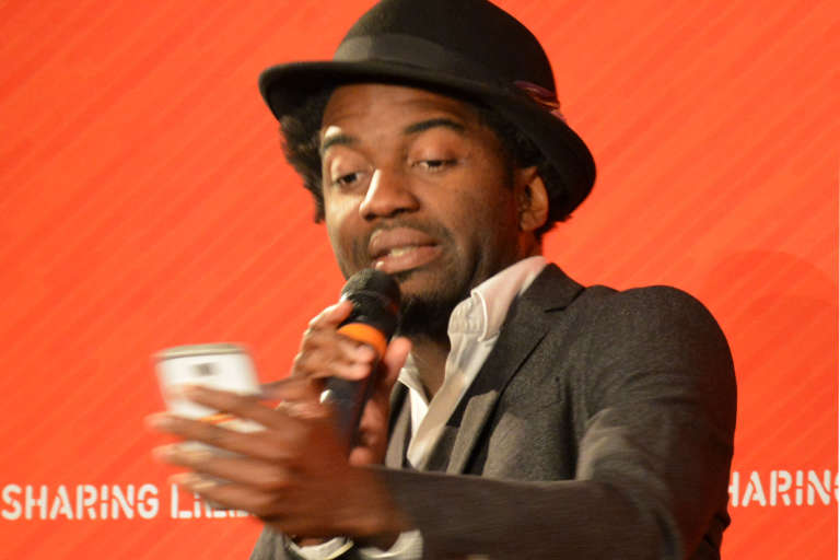 Le poète camerounaisMarc Alexandre Oho Bambe.
