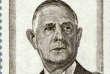 De Gaulle, timbre-poste paru en 1971.
