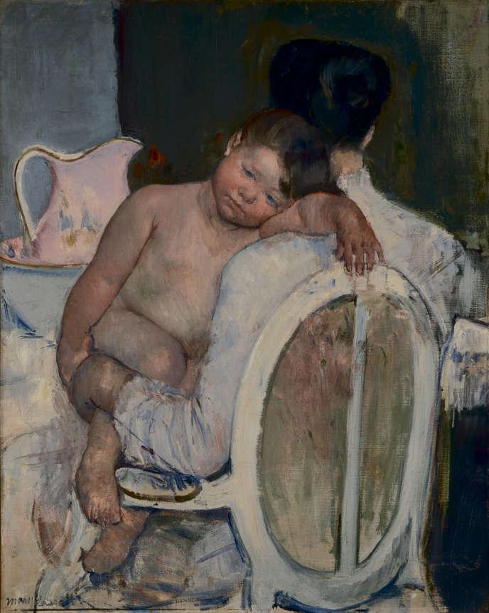«Femme assise avec un enfant dans les bras» (1889-1890), de Mary Cassatt, huile sur toile, 81 x 65,5 cm.