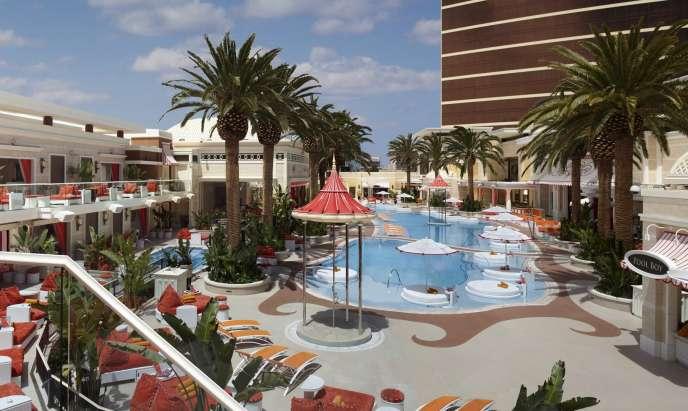 Le beach club de l'hôtel Encore, à Las Vegas.