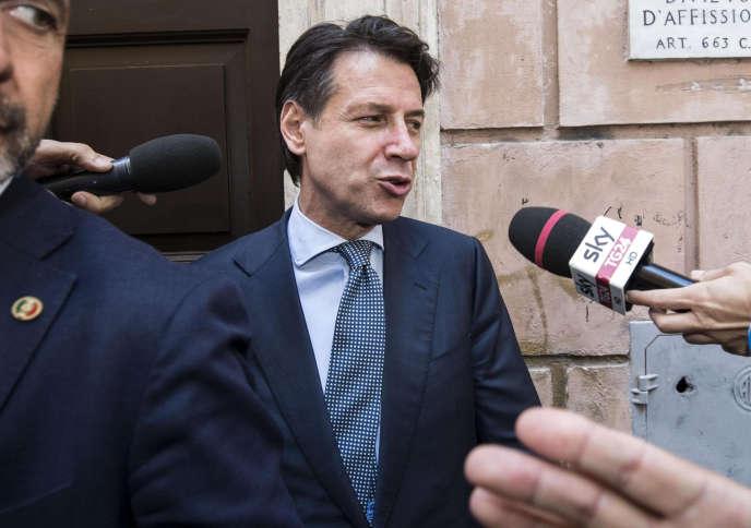 Le nouveau premier ministre italien, Giuseppe Conte, à Rome le 1er juin.