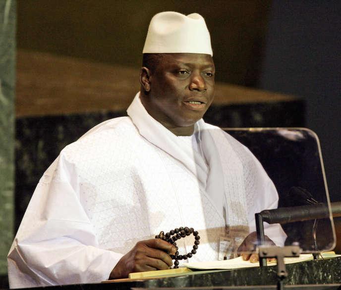 L'ex-président de la Gambie Yahya Jammeh, à New York, en septembre 2005.