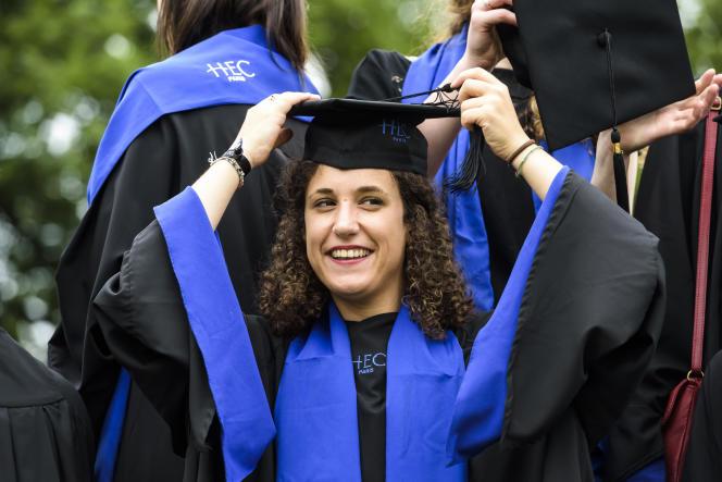 Lors de la cérémonie de remise des diplômes à HEC, en 2016.