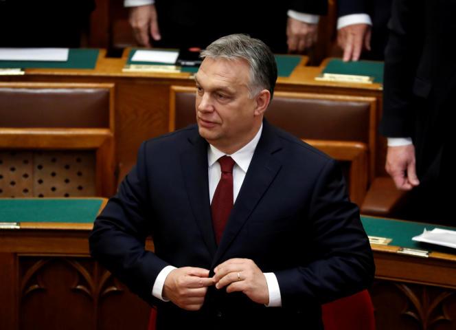 Viktor Orban, le premier ministre hongrois, à Budapest, le 18 mai 2018.