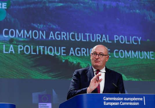Le commissaire à l'agriculture, l'Irlandais Phil Hogan, à Bruxelles le 1er juin.