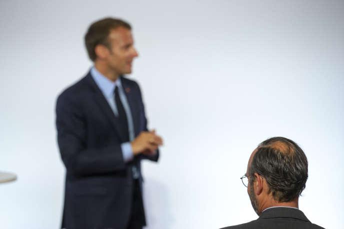 Emmanuel Macron, président de la République, et Edouard Phillippe, premier ministre, à l'Elysée, le 22 mai.