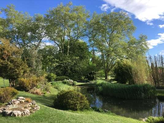 Vue du Jardin botanique de Genève.