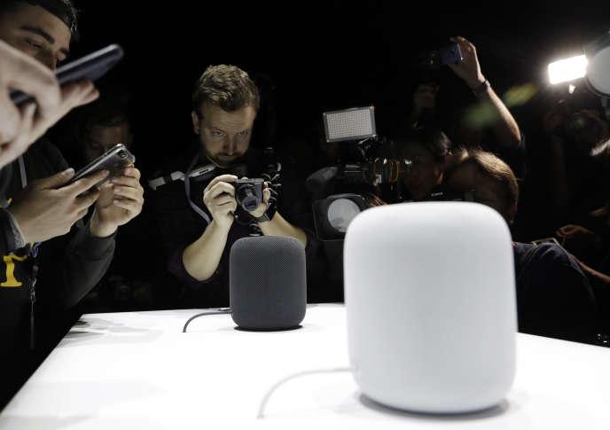 « Une langue ne rayonnera que si elle s'appuie sur des outils d'IA performants» (Photo: HomePod, une enceinte connectée qui se contrôle avec la voix grâce au logiciel Siri).