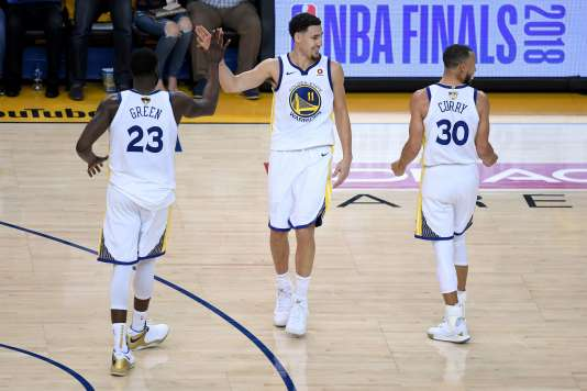 Les Golden State Warriors, le 31 mai à Oakland, face aux Cleveland Cavaliers.