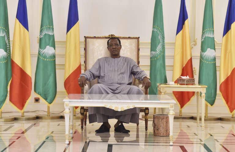 Le président tchadien Idriss Déby, à N'Djamena, le 29 décembre 2016.