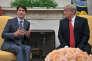 Le président américain, Donald Trump, et le premier ministre canadien, Justin Trudeau, à Washington, en octobre 2017.