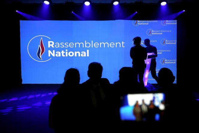 Lors du conseil national du désormais «RN», le 1erjuin, à Lyon.
