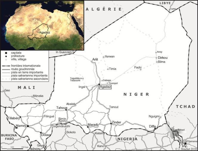 Carte du Niger.