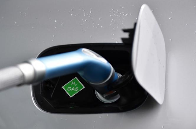 Un voiture fonctionnant à l'hydrogène, au Salon automobile de Francfort, en septembre 2017.