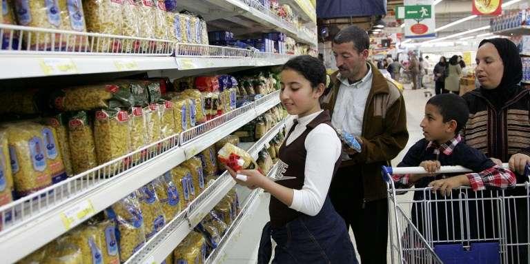 Dans un supermarché à Rabat, au Maroc, en 2008.