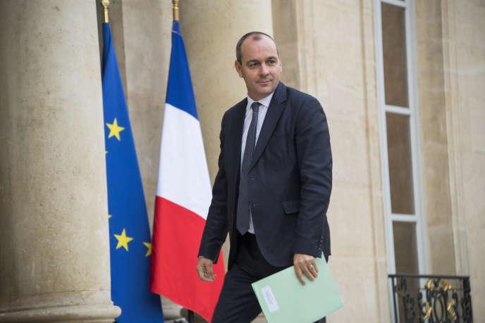 Le secrétaire général de la CFDT, Laurent Berger, le 13 octobre 2017, à l'Elysée.
