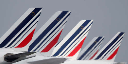 Avions d'Air France-KLM, à l'aéroport Roissy-Charles-de Gaulle, le 9 mai.