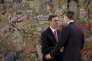 Le nouveau premier ministre espagnol Pedro Sanchez et le roi Felipe VI au palais Zarzuela à Madrid, le 2 juin.