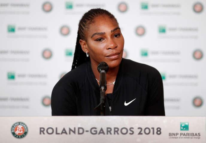 Lors de sa conférence de presse à Roland-Garros, lundi 4 juin.