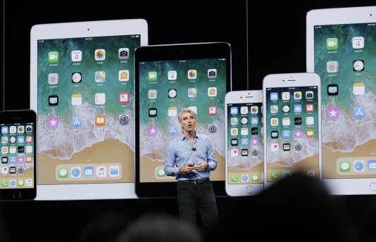 Craig Federighi, responsable du développement logiciel chez Apple, a présenté plusieurs nouveautés lors de la WWDC, lundi4 juin.