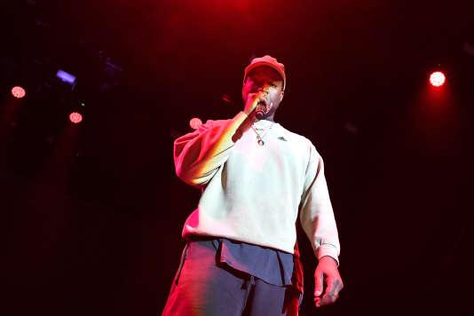 Kanye West sur scène à Los Angeles, en Californie, le 17 février.
