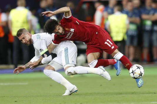 Sergio Ramos et Mohamed Salah, le 26 mai 2018.