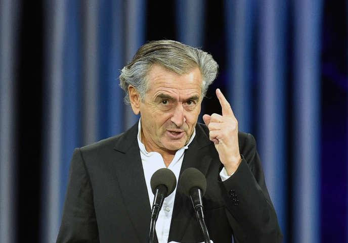 Bernard-Henri Lévy, lors d'un discours à Kiev, le 29 septembre 2016.