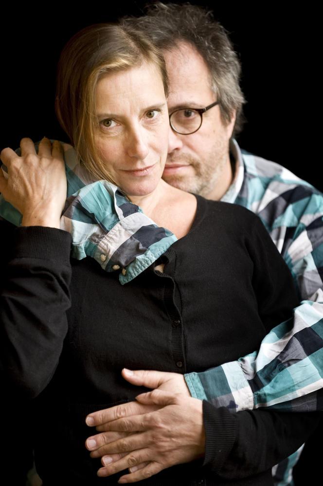 La chorégraphe Michèle Anne De Mey et le cinéaste Jaco Van Dormael.