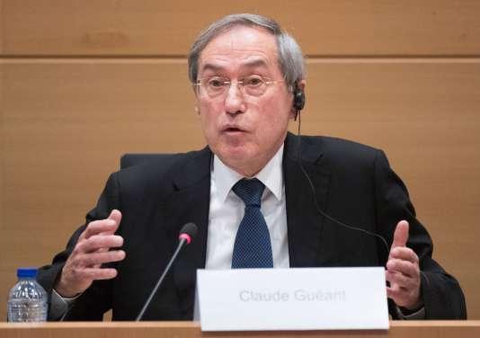 L'ancien ministre de l'intérieur Claude Guéant, le 3 mai 2017 à Bruxelles.