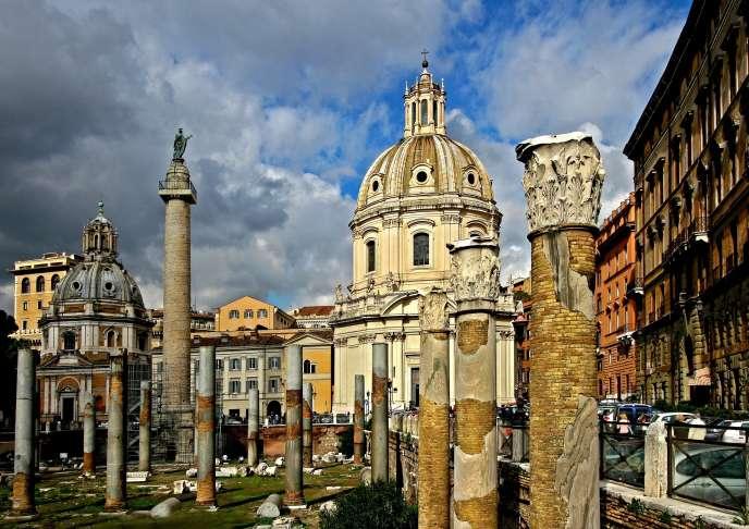 Le forum de Trajan, à Rome.
