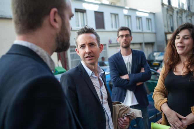 Ian Brossat, lors de la campagne des législatives, le 23 mai 2017, à Paris.
