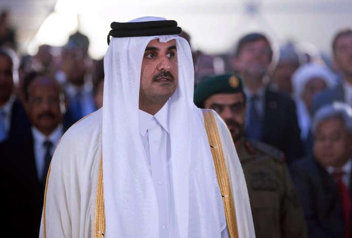 L'émir du Qatar, Tamim Al-Thani, inaugure le port d'Hamad, censé répondre au blocus imposé à son pays, en septembre 2017.