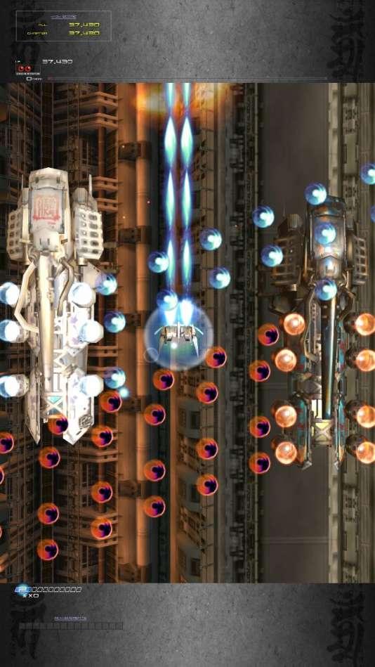 « Ikaruga» est conçu pour être joué à la verticale : sur Switch, il faut poser la console de biais et activer l'affichage idoine pour en profiter.