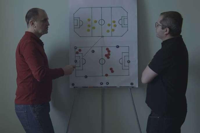 Une scène extraite du documentaire de Corneliu Porumboiu,« Football infini».