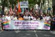 Lors de la Gay Pride à Lyon, le 15 juin 2013.
