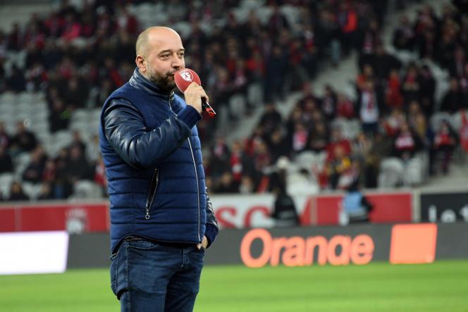 Le président du LOSC, Gérard Lopez, le 4 février 2017 au stade Pierre-Mauroy.