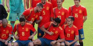 L'équipe d'Espagne, lors de la photo officielle, le 5 juin à Madrid.