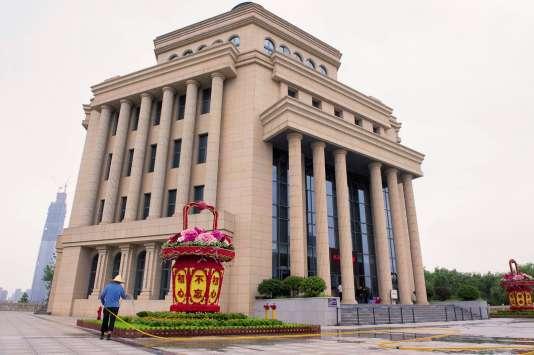 La galerie qui rend homage aux exploits de Mao Zedong à Wuhan.