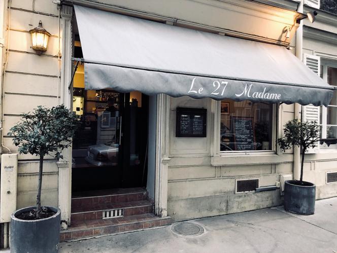Le restaurant 27 Madame ouvert récemment par Dominique Léger dans le 6e arrondissement de Paris.