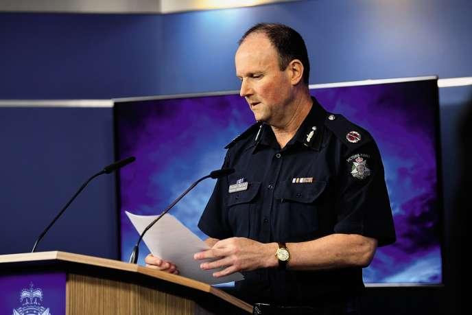 L'officier Russell Barrett a déclaré que c'était uneattitude lamentable quia nui à la réputation de la policele 31 mai, lors de la conférence de presse sur l'affaire des faux éthylotests.